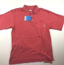Columbia PFG Mens Medium Pink Bonehead Knit Short Sleeve Golf Polo Shirt NWT