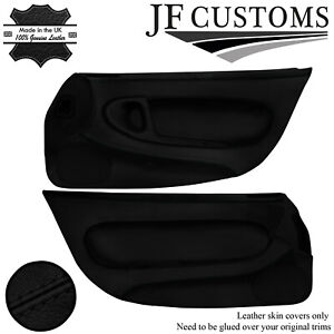 BLACK STITCH ITALIAN LEATHER 2XFULL FRONT DOOR COVERS FITS MAZDA RX7 FD3S 92-02