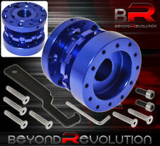 FOR GMC STEERING WHEEL HUB ADAPTER ADJUSTABLE EXTENSION WORKS W/ NRG UNIT BLUE