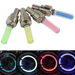 2PC LED Wheel Bike Bicycle Motorbike Car Spoke Light Up Colour Dust Cap Valve