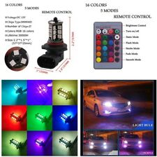 1 Pair RGB 9006 HB4 5050 27-SMD LED Auto Fog Lights DRL Bulbs Higher Visibility