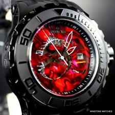 Invicta Subaqua Specialty Red Abalone Dragon Automatic 52mm Black Watch New