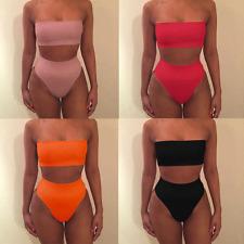 Femme redresseur Maillot de bain Bandage Bra Bikini lot taille haute deux pieces