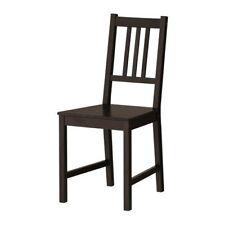 """IKEA Stuhl """"STEFAN"""" Holzstuhl Küchenstuhl aus massiver Kiefer - SCHWARZBRAUN"""