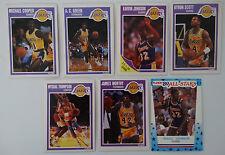1989-90 Fleer Los Angeles Lakers Team Set Of 7 Basketball Cards