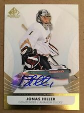 2012-13 Jonas Hiller SP Game Used Gold Autographs