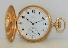 14K GOLD ELGIN Pocket Watch 16s 17j Gr 381 c.1915 Keystone 14-Karat Hunting Case