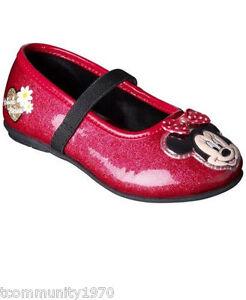 Disney Minnie Mouse Girl's Red Ballet Flat - Girls Sz 2 -