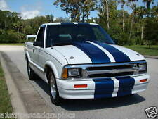 "ALL Year chevy S10 GMC Colorado S15 11"" Plain Rally stripes Stripe Decal Decals"