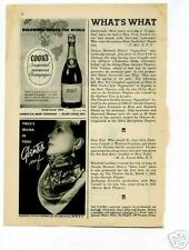 Cook's Imperial American Champagne 1946 Original Ad
