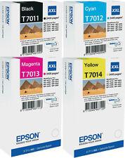 4x ORIGINAL EPSON TINTE PATRONEN XXL WF WORKFORCE PRO WP4015DN WP4515DN T7015