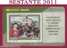 TESSERA FILATELICA FRANCOBOLLO IL TURISMO MAMOIADA NU 2008 M44