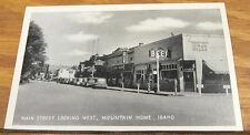 c1940 Photo Postcard/Main Street Looking West, Mountain Home, Idaho/Id