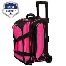 Ebonite Transport II Black/Pink 2 Ball Roller Bowling Bag