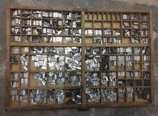 Caravelle 24p Bleischrift im Setzkasten Bleisatz Schrift Alphabet lead type