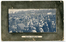 Fall Fair Crowd Brigden Ontario Canada 1910 postcard