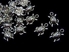 10 x 20mm Tibetan Silver Lady Bird / Bug Pendants Charms Craft Beads K82