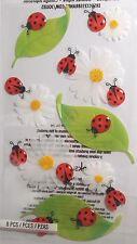 JOLEE'S BOUTIQUE LE GRANDE VELLUM LADYBUGS Scrapbook Craft Sticker Embellishment