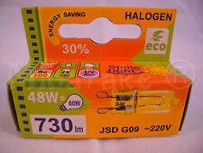 Halogen HALOPIN lamp bulb G9 48W ~220V 730 Lm 60W economic ECO GREEN SAVER 30%