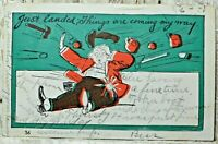 Vintage Postcard Funny Just Landed Things Coming My Way Posted 1907 Antique