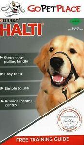Purina PetLife HALTI Black Headcollar -  Dog Head Collar