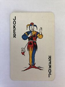 Joker Card, Linen, Vintage