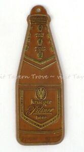 "1960s RHODE ISLAND Cranston KRUEGER PILSNER BEER 3"" Keychain/Fob Tavern Trove"