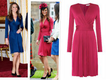 BNWT ISSA Darcy Royal Engagement Autumn Pink Cocktail Midi Wrap Tea Dress UK 18