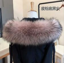 Winter Women Faux Fur Collar For Coat Sweater Down Jacket Hood Scarf Shawl Wrap