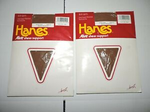 Vintage Hanes Alive Size C Sheer Support Pantyhose South Pacific Style 810 Lot