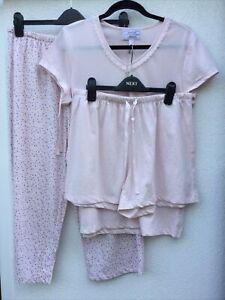 Carole Hochman Heavenly Soft 3 Piece Capri and Shorts Pyjama Set Pink Size M