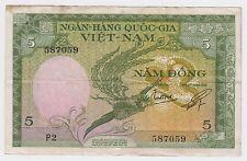 Viet Nam banknotes - Ngan-Hang Quoc-Gia- 5 , NAM ĐONG !