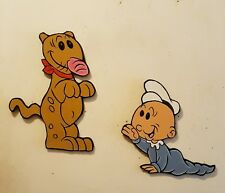 Popeye's/Sweet Pea & Eugene Jeep ~ Handpainted Wall Woodart