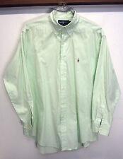 vtg Ralph Lauren Dress Shirt Classic Fit green striped classic fit sz 16 32/33