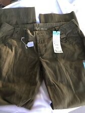 Lee Rider Premium Olive Jeans Juniors Size  15 M New With Tags