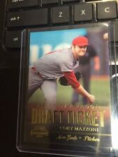 2011 Playoff Contenders Draft Ticket Travis Cory Mazzoni First Day Proof # 10/10