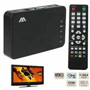 Mini TV BOX Full HD 1080P Multi Media Player HDMI/VGA/AV/USB SD Card MPEG H.264