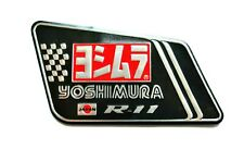 YOSHIMURA JAPAN R11 3D HEATPROOF EXHAUST BADGE STICKER GRAPHIC DECAL SILENCER