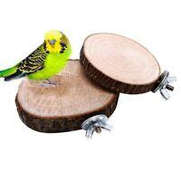 Pet Parrot Bird Cage Perches Platform Round Wooden Stand Board Birds Rest Toy..