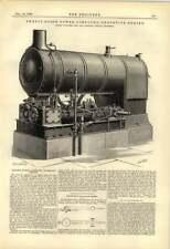 Compuesto 1888 20 HP motor tipo bajo Medidor de diagrama de Bagshaw Ealing depósito