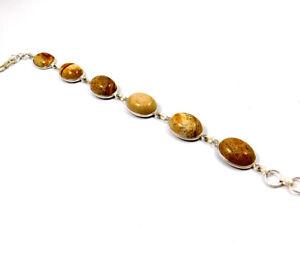 Picture Jasper .925 Silver Plated Handmade Bracelet Jewelry IJC10962