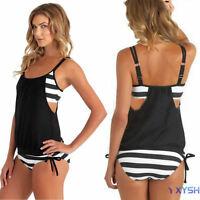 Women's Tankini Bikini Set Push-up Bra Swimsuit Bathing Suit Swimwear Plus Size