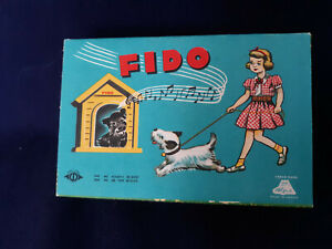 """Vintage Alps """"Fido"""" Hand Operated Mechanical Dog - Made in Japan - MIB"""
