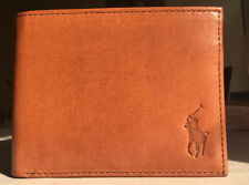 New Polo Ralph Lauren Tan Passcase Mens Small Pony Wallet