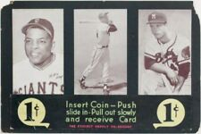 1947 - 1966 Exhibit Advertising Panel with Hank Aaron Willie Mays Eddie Mathews