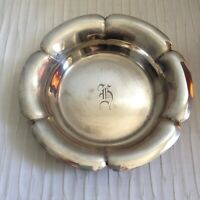STERLING SILVER DISH BY RICHARD DIMES OF BOSTON, MASS. VINTAGE   H MONOGRAM.