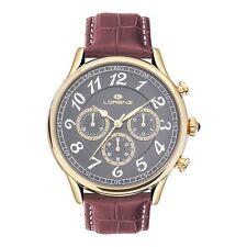 Orologio Chrono Lorenz Uomo Classico acciaio Gold Pelle Brown Lz30023aa € 269