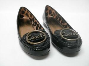 NIB COACH CORENA CRINKLE PAT FLATS SHOES BUCKLE ACCENT SIZE 6M STYLE A2471