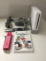 Wii Console Bundle - Mario Kart Wii Game CIB, One Pink Wii Remote (Tested)