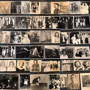 #3 Old 8x10/5x7 50 Vintage Photos Lot BLACK & WHITE HollywooD Storage Finds 👀